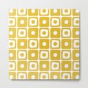 Mid Century Square Dot Pattern Mustard Yellow by tonymagner