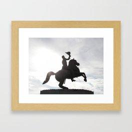 Jackson in the shadow Framed Art Print