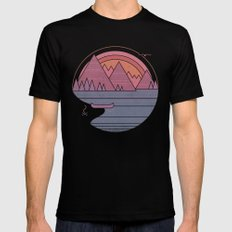 The Mountains are Calling Mens Fitted Tee Black MEDIUM