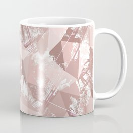Folded paper under glass. Coffee Mug