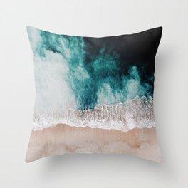 Ocean (Drone Photography) Throw Pillow