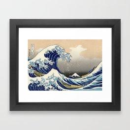 "Katsushika Hokusai ""The Great Wave off Kanagawa"" Framed Art Print"