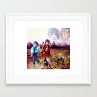 dmmd Framed Art Prints featuring dmmd beach by Mottinthepot