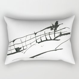 Crow on the Fence Rectangular Pillow