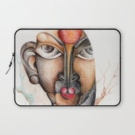 A calm and peaceful facial expression Laptop Sleeve