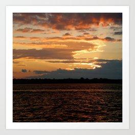 Lake Sunset II Art Print
