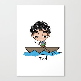 Tod on a Boat Canvas Print