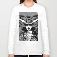 moth Long Sleeve T-shirts featuring Moth by WES EXOTIC IMAGERY