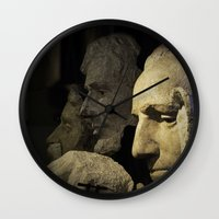rushmore Wall Clocks featuring Faces of Rushmore by Judith Lee Folde Photography & Art