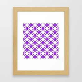 Interlocking Purple Framed Art Print