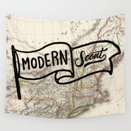 Modern Scout Map Wall Tapestry