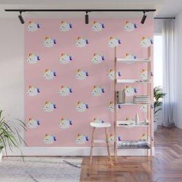 Kawaii rainbow fattycorn pattern Wall Mural