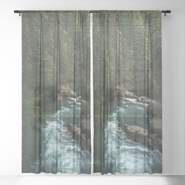 The Lost River - Pacific Northwest Sheer Curtain