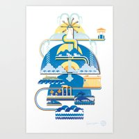 greece Art Prints featuring Greece by Patrick Welham