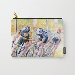 Colorful Bike Race Art Carry-All Pouch