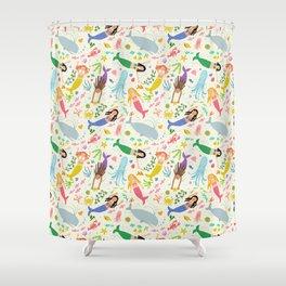 MERMAIDENS cream Shower Curtain