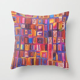 The colors of the burning fall Throw Pillow