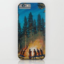 campfire gathering iPhone Case