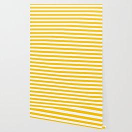 Aspen Gold Beach Hut Horizontal Stripe Fall Fashion Wallpaper