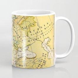 Europe During The 14th Century - Vintage Map Coffee Mug