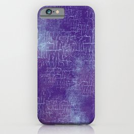 Abstract Grunge Art in Violet Purple and Blue iPhone Case