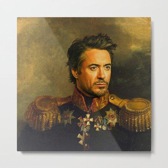 Robert Downey Jr. - replaceface Metal Print