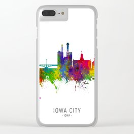 Iowa City Iowa Skyline Clear iPhone Case