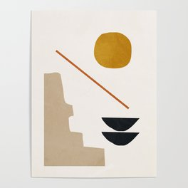 abstract minimal 6 Poster