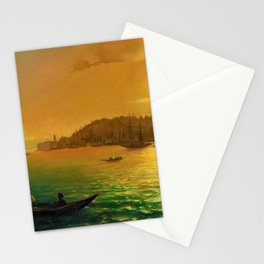 View of Constantinople by Moonlight by Ivan Aivazovsky Stationery Cards