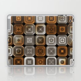 Geometric chocolate pattern Laptop & iPad Skin