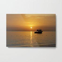 Sunset in Jamaica  Metal Print