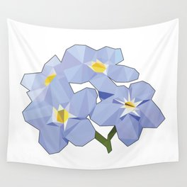 Forget Me Nots Low Poly Wall Tapestry