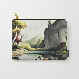 Classical Masterpiece 'Ozark Reflections' by Thomas Hart Benton Carry-All Pouch