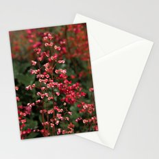 Little Red Flowers Stationery Cards