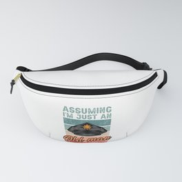 Old Man Police Officer Policeman Retro Gift Fanny Pack
