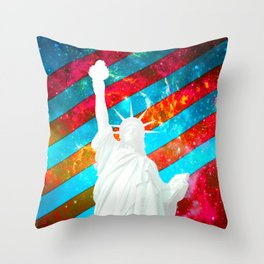 Liberty Pop Art Throw Pillow