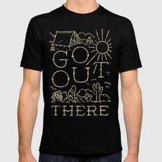 Go Out There Black Mens Fitted Tee MEDIUM