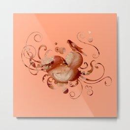 Romantic in peach Metal Print