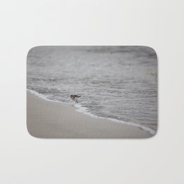 Lonely Sandpiper Bath Mat