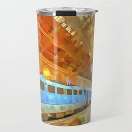 Pop Art Railway Station Travel Mug