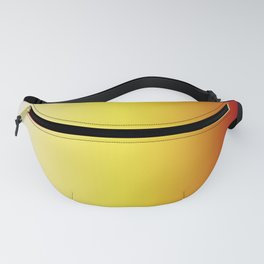 Red Yellow Beige Gradient Fanny Pack
