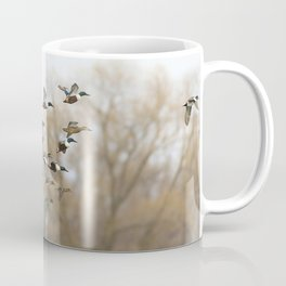 Ducks in Autumn Flight Coffee Mug