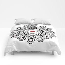 Mandala true love Comforters