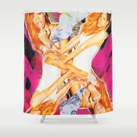 rihanna Shower Curtains featuring Rihanna by GREATeclectic