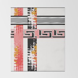 Vintage .Art . Intertwining colored bands . Throw Blanket