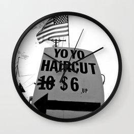 Yo Yo Hair Cut Wall Clock
