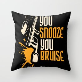 Paintball You Snooze You Bruise Paintball Lover Throw Pillow