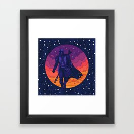 """""""Mando and The Child - Stars"""" by Berlin Michelle Framed Art Print"""
