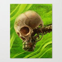 Biohazard Skull Canvas Print