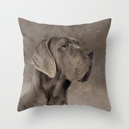 Great Dane  -Deutsche Dogge Throw Pillow